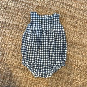 Baby Girl Old Navy Gingham Bubble Sz 6-12 months